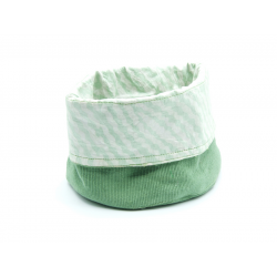 "Big Organic Reversible Organizer Basket ""Light Green"""