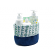 "Bathroom Basket Organic Cotton""Indigo"""