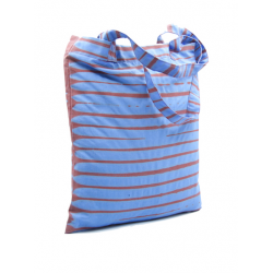 """Tote Bag """"Koko Donda"""" Blue and Brown"""