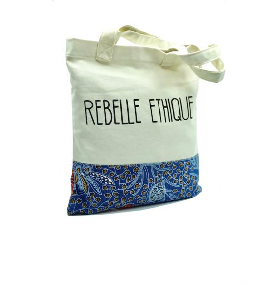 Cabas Rebelle Ethique en coton et wax - Leeza