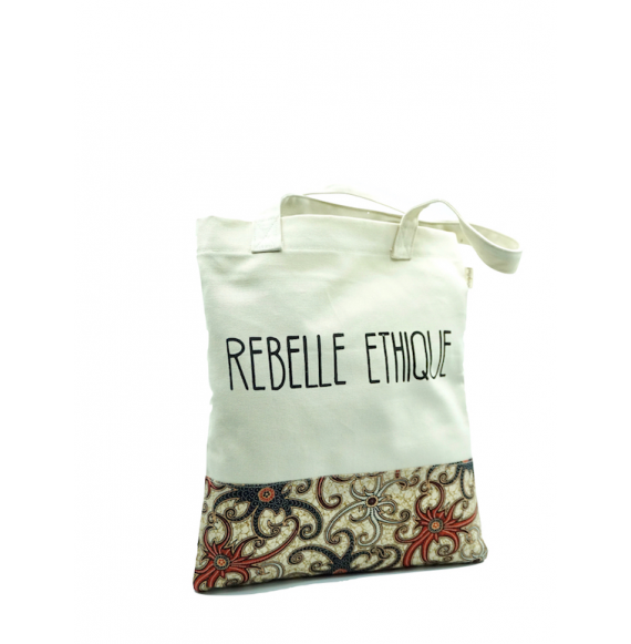 Cabas Rebelle Ethique en coton et wax - Arli