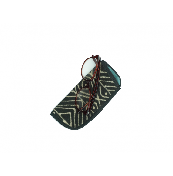 "Hand-woven Organic Cotton Eyeglass case - ""Arabata"""