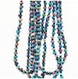 """2-3 Strands Necklace Marbled Beads """"Keelem"""""""