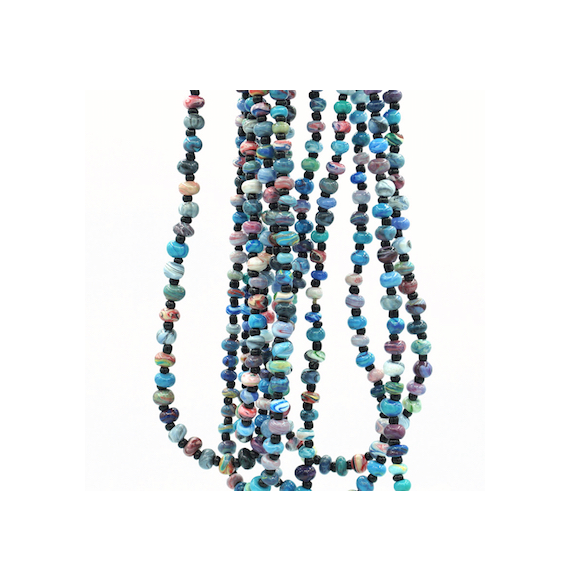 "2-3 Strands Necklace Marbled Beads ""Keelem"""