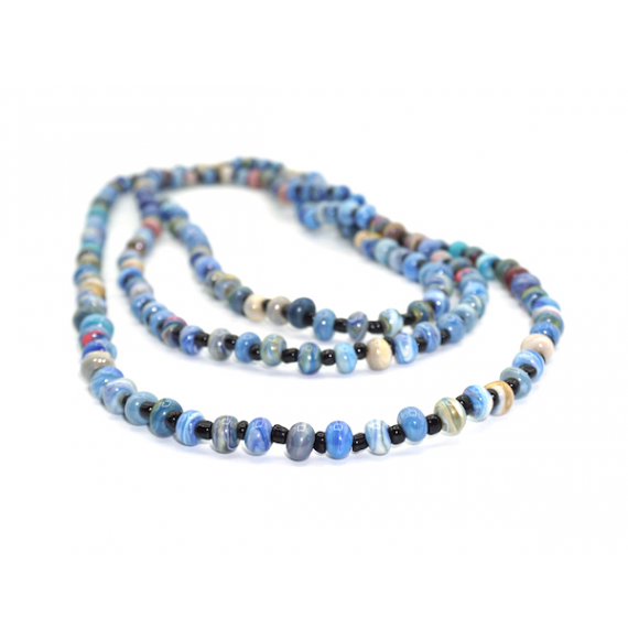 "2-3 Strands Necklace Marbled Beads ""Wilgi"""