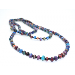 """2-3 Strands Necklace Marbled Beads """"Yegre"""""""