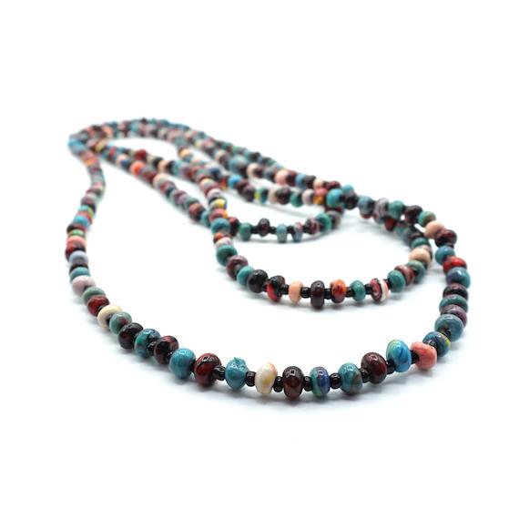 """2-3 Strands Necklace Marbled Beads """"Nagre"""""""