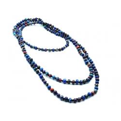"""2-3 Strands Necklace Marbled Beads """"Venge"""""""