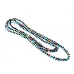 """2-3 Strands Necklace Marbled Beads """"Ko"""""""
