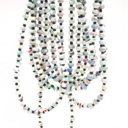 "2-3 Strands Necklace Marbled Beads ""Pege"""