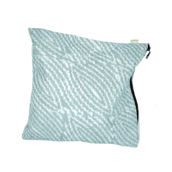 "Organic Waterproof Lingerie Bag ""Grey Waves"""
