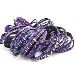 6 Bracelets Smile -  Mixte Violet