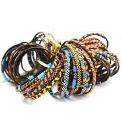 6 Smile Bracelets - Orange Mix
