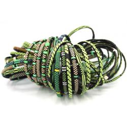 6 Smile Bracelets - Green Mix