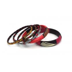Bracelets Smile Mix - 2 gros et 3 fins