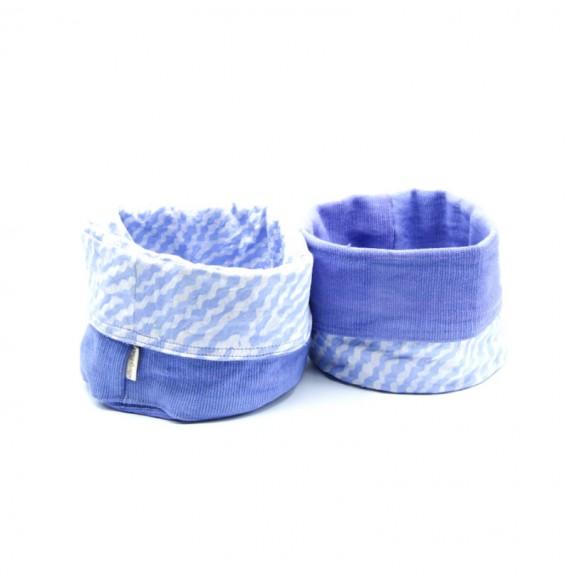 Panier de Rangement Coton et Batik Bio - Lavande