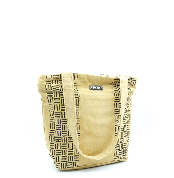"Bogolan Handbag ""Kibarél"" (cotton bio & teintures végétales)"