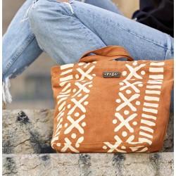 """Bogolan Handbag """"Yibeog"""" (cotton bio & teintures végétales)"""
