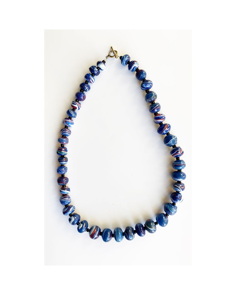 Handmade African necklace with recycled plastic beads