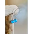 Glass Earrings - Blue