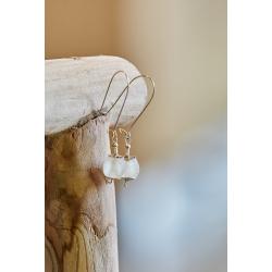 Ghana Glass Earrings - Lily